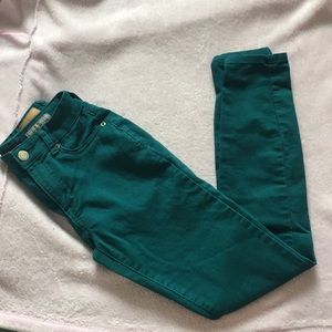 Teal Areopostale High-Waisted Jeggings
